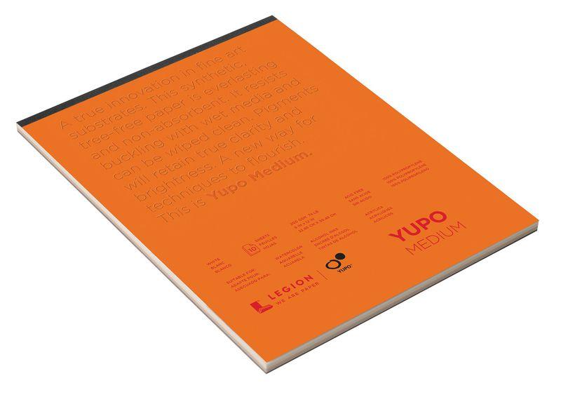 "YUPO® 74 lb. White Synthetic Mixed Media Paper Pad 9"" x 12"": White/Ivory, Pad, Polypropylene, 9"" x 12"", Smooth, 74 lb, (model L21-YUP197WH912), price per pad"