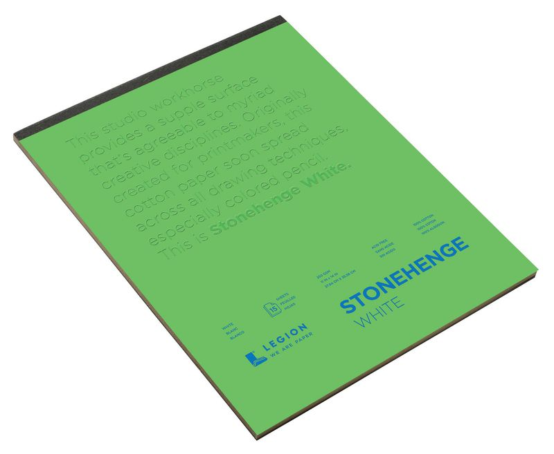 "Stonehenge® 18"" x 24"" Versatile Artist Paper Pad White: Wire Bound, White/Ivory, Pad, 15 Sheets, 18"" x 24"", (model L21-STP250WH1824), price per 15 Sheets pad"