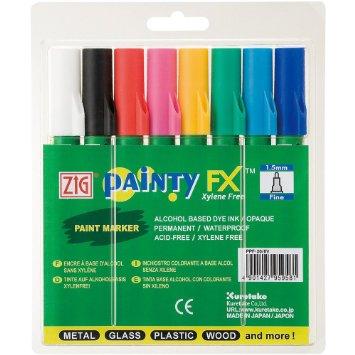 Zig Painty FX Paint Markers: Fine, 1.5mm, 8-Color Set