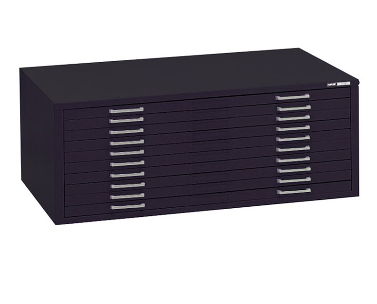 "Mayline C-File: 10 Drawers, Black, 46 3/4""W x 35 3/8""D x 15 3/8""H"