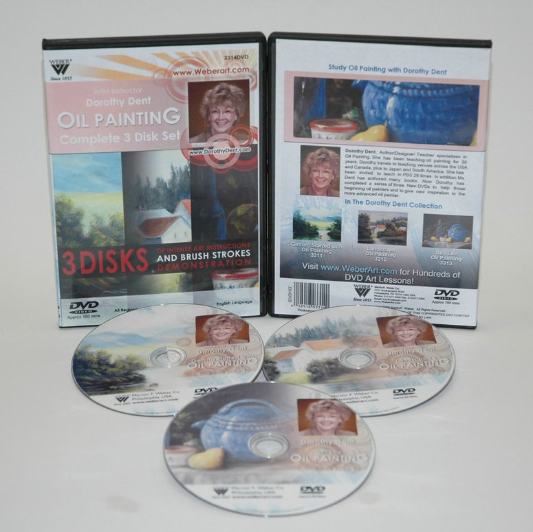 Dorothy Dent DVD: Joy Of Country Painting, TV Series 2 (13-30-Minute Programs) Oil Painting, 3 Disc Set (6.5 Hour)