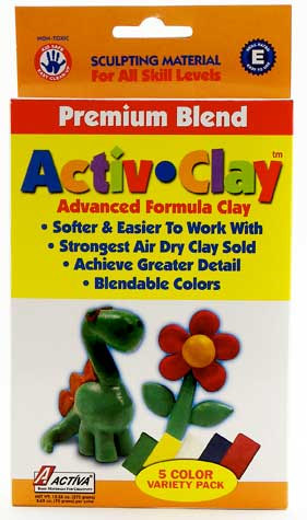 Activ-Clay Air-Dry Modeling Clay: White, 9.9 lb Box