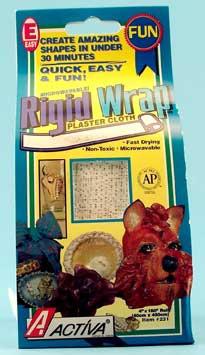 Rigid Wrap Plaster Cloth: 4 X 8 inches