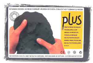 Plus Clay 2.2 lb Package: Black