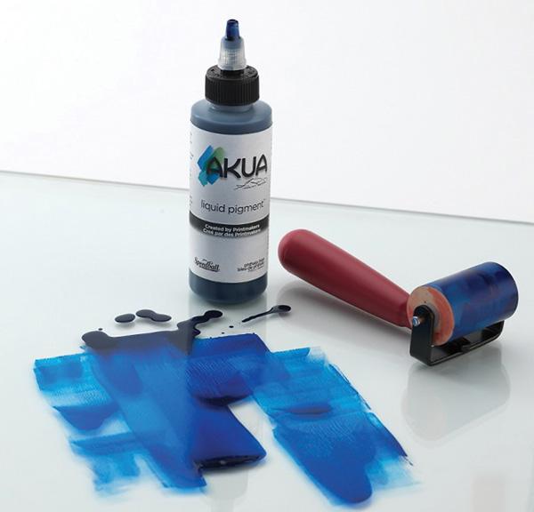 Akua Liquid Pigment&trade Printmaking Ink 4oz Phthalo Blue