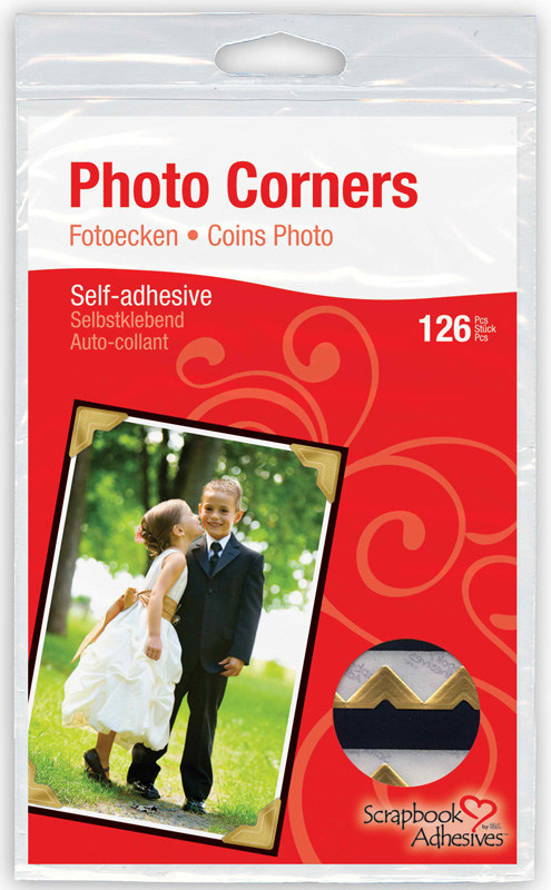 Scrapbook Adhesives Paper Photo Corner: Gold, 126-Pack