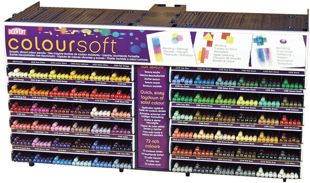 Derwent ColorSoft Pencil Complete Display Assortment