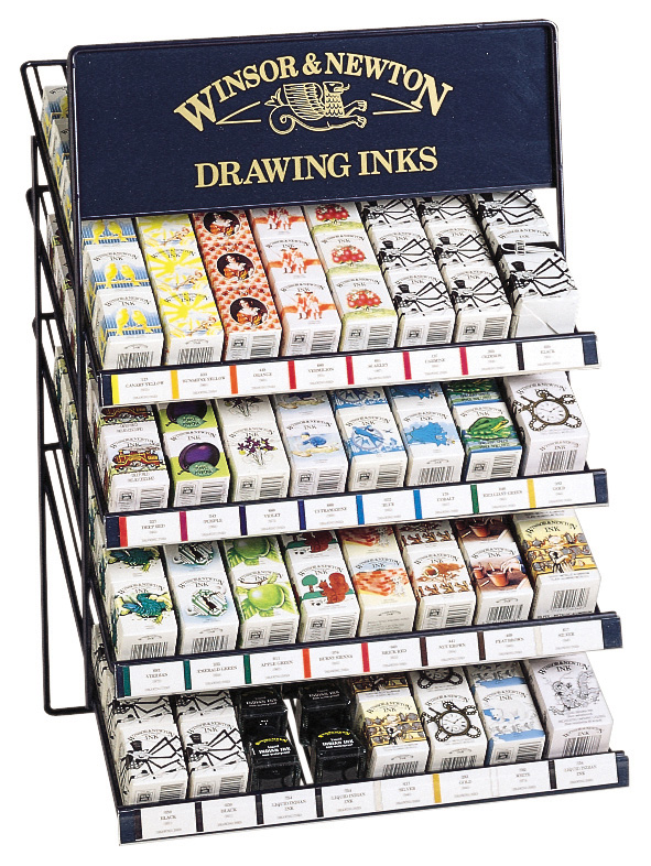 Winsor & Newton Drawing Ink Display Assortment: 180 Bottles