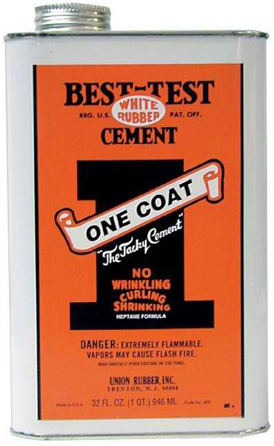 Best-Test One Coat Rubber Cement: 32 oz.