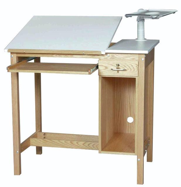 SMI Oak 1 Drawer Computer Table: 30 x 42