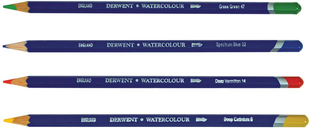 Derwent Watercolor Pencils: Open Stock, Raw Sienna