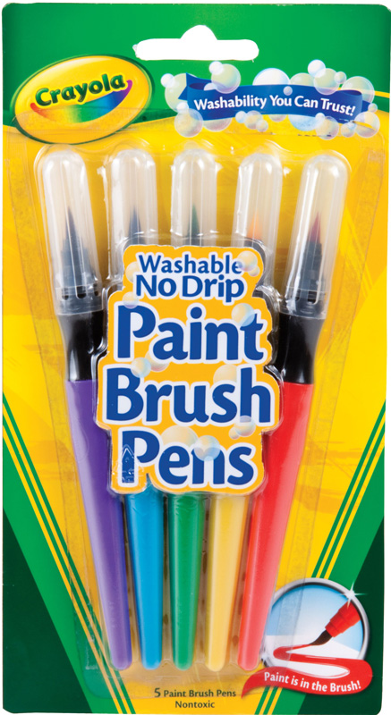 Crayola No Drip Paint Brush Pen Set