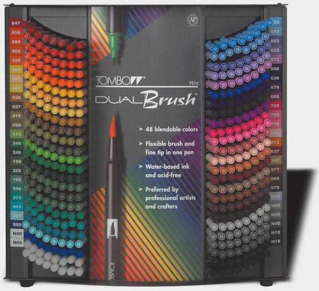 Tombow Dual Brush 48-Color Display Assortment