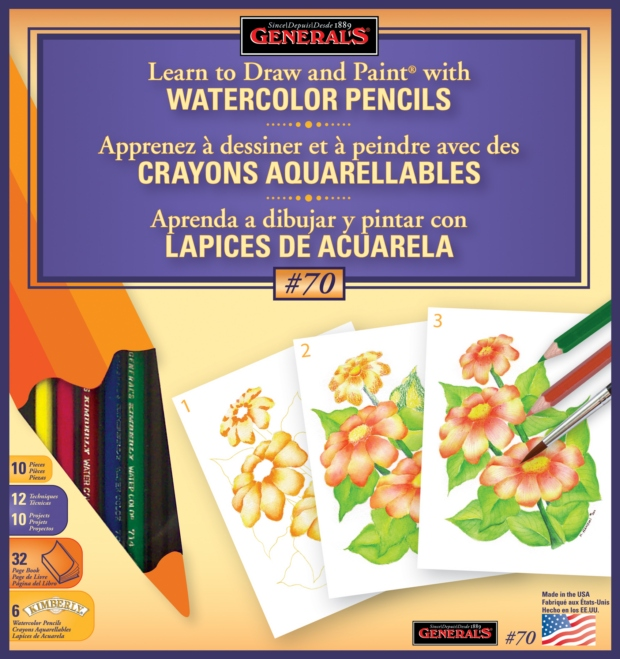 General's Learn to Draw and Paint with Watercolor Pencils