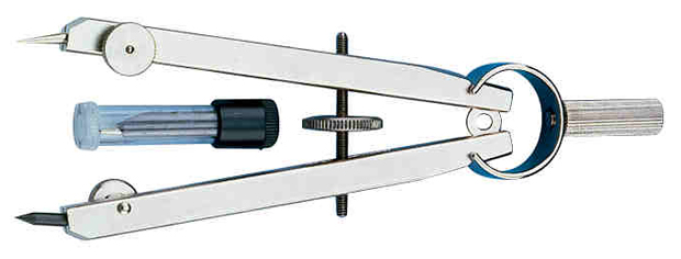 """Alvin 4"""" Introductory Flat-Bow Compass"""