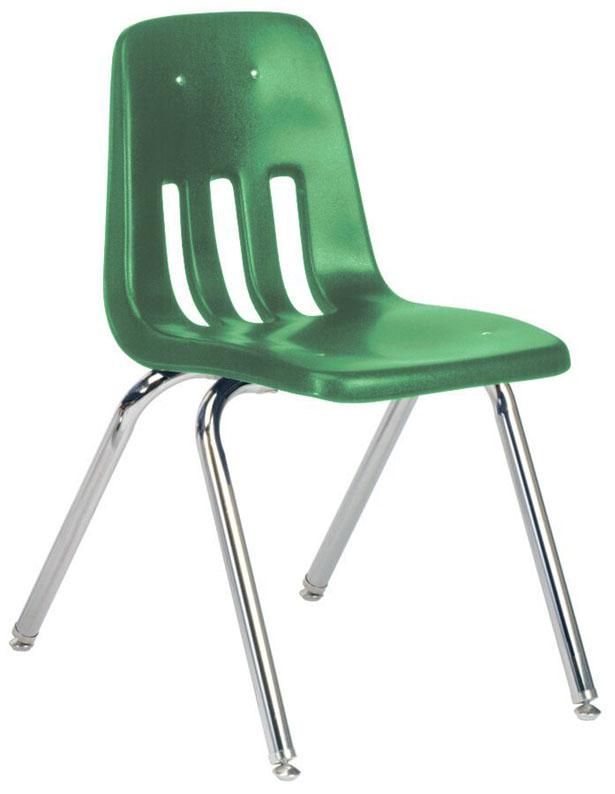 "Virco Classic Classroom Chair: 16"", Green 34"