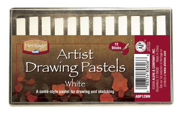 Heritage Artist Drawing Pastel: White Set Of 12