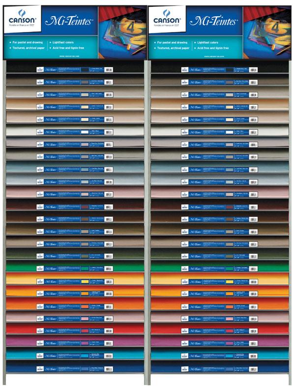 Canson Mi-Teintes Pastel Paper Display Assortment