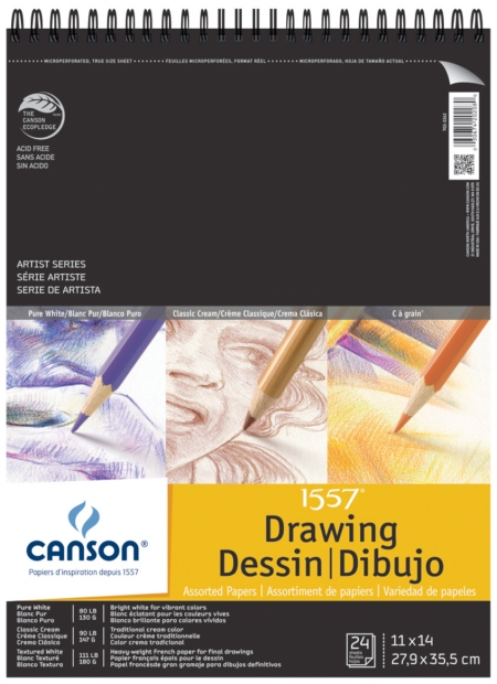 Canson Artist Series Assorted Drawing Wire Bound Pad