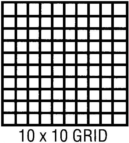"Clearprint 1000H Series Printed Vellum Sheet: 11"" x 17"", 10 x 10 Grid, Pack of 10"