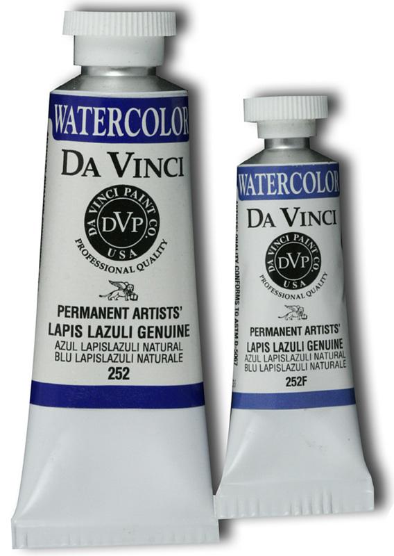 Da Vinci Artists' Watercolor Paint: Lapis Lazuli Genuine, 15 ml Tube