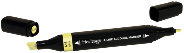 Heritage A-Line Alcohol Markers: Single Markers, Yellow