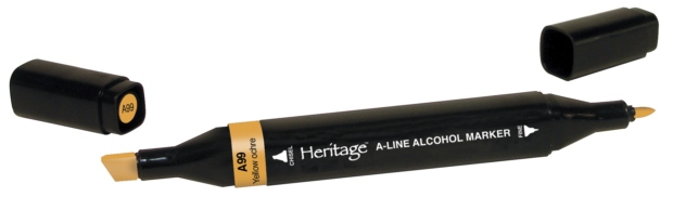 Heritage A-Line Alcohol Markers: Yellow Ochre, Single