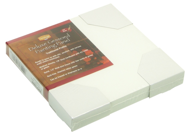 """Heritage Deluxe Gessoed Painting Panels: Traditional 3/4"""" Deep, 6"""" x 6"""""""
