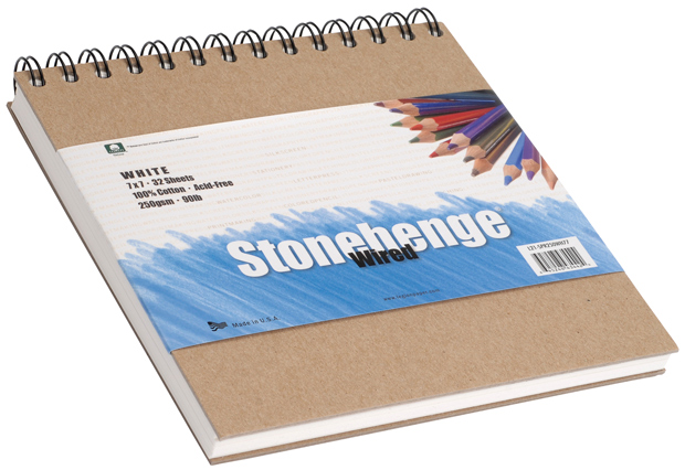 "Stonehenge Versatile Artist Journal: 11"" x 14"", White, 250gsm"