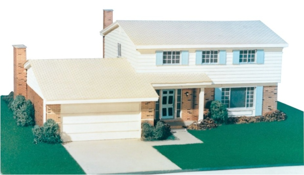 Architectural model building material 1 4 scale for Model house building materials