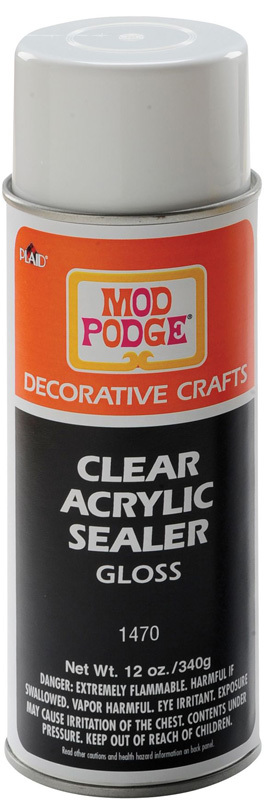 Mod Podge Clear Acrylic Sealer Spray: Gloss, 12oz Can