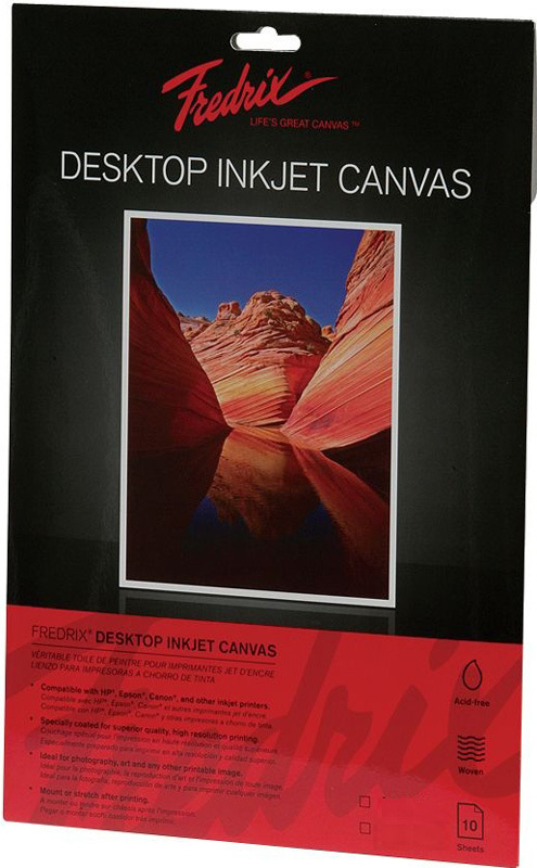 "Fredrix Desktop Inkjet Canvas: 8 1/2"" x 11, 10-Pack"