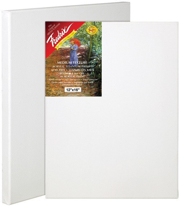 "Fredrix 8"" x 8"" Red Label Standard Stretched Canvas: Individual"