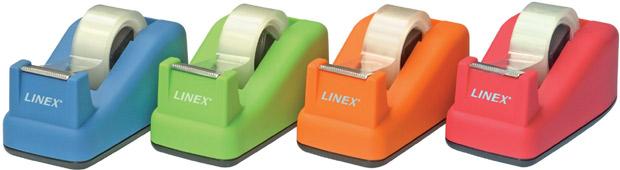 Linex Soft Touch Tape Dispenser: Orange