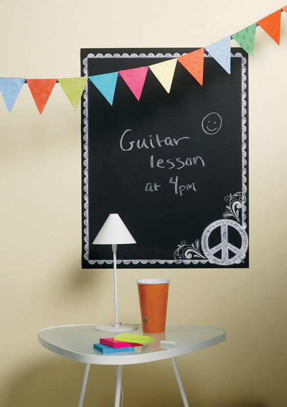"Wallies 19"" x 25"" Peel & Stick Chalkboard Sheet Peace"