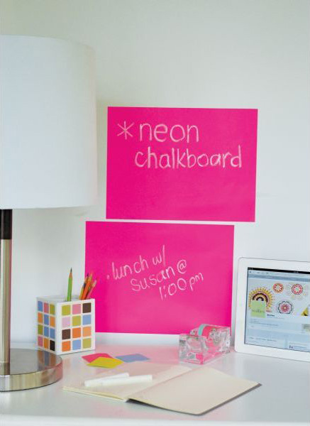 "Wallies Peel & Stick Chalkboard Sheets: Neon Pink,  9"" x 12"", Pack of 2"