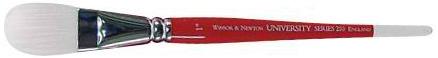 "Winsor & Newton University Synthetic Acrylic and Oil Brushes: Size 1/2"", Oval Wash, Short Handle"