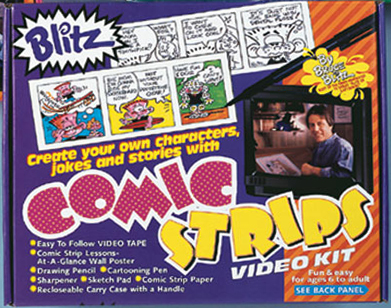 Bruce Blitz VHS Comic Strips Set - with 1 Hr DVD