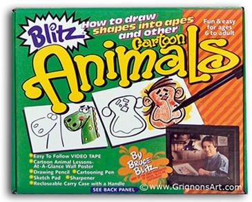 Bruce Blitz Cartoon Animals Set Set - with 1 Hr DVD
