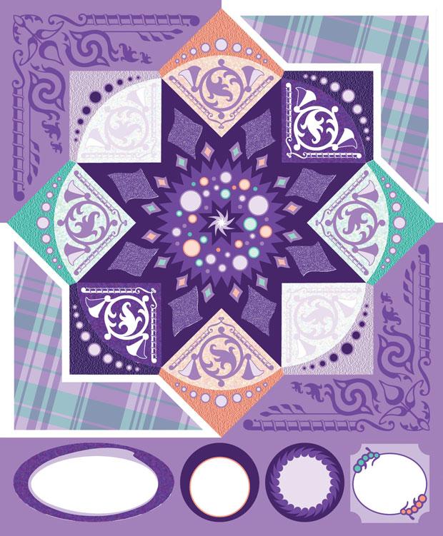Blue Hills Studio ColorStories Cardstock Stickers: Purple