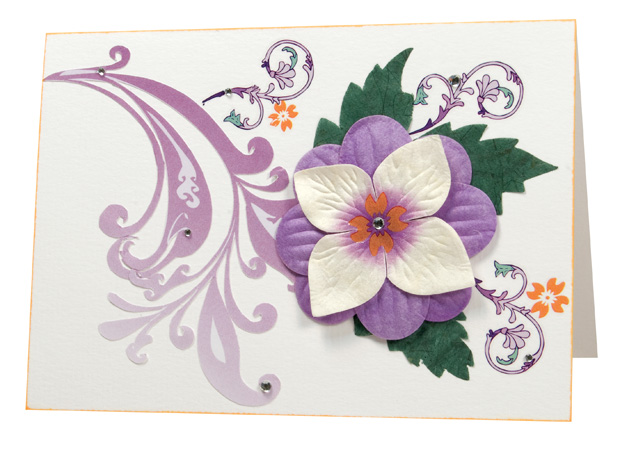 Blue Hills Studio ColorStories Rub-Ons with Bling: Purple