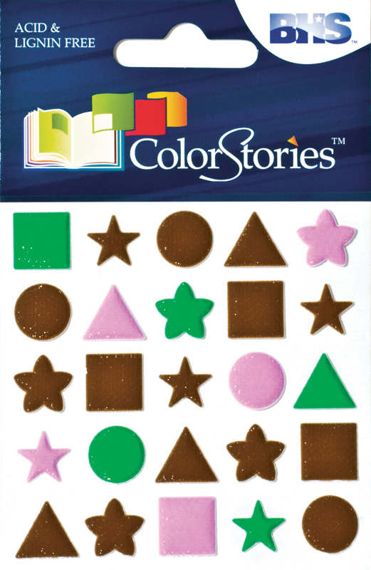 Blue Hills Studio™ ColorStories™ Puffy Mesh Stickers Brown