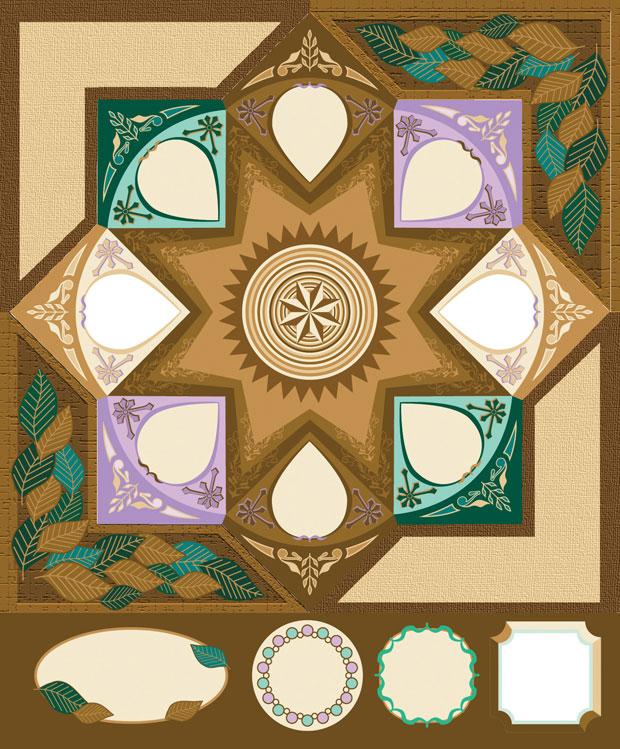 Blue Hills Studio ColorStories Cardstock Stickers: Brown