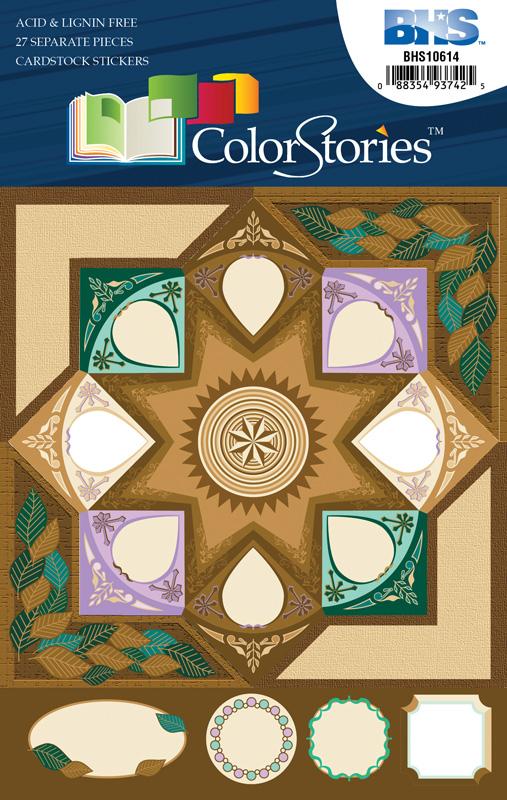 Blue Hills Studio™ ColorStories™ Cardstock Stickers Brown