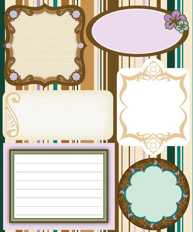 Blue Hills Studio ColorStories Embossed Cardstock Stickers: Brown