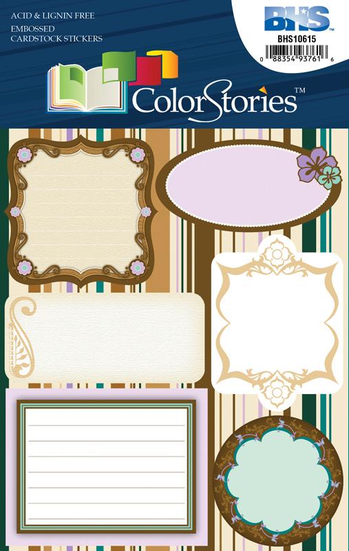 Blue Hills Studio™ ColorStories™ Embossed Cardstock Stickers Brown