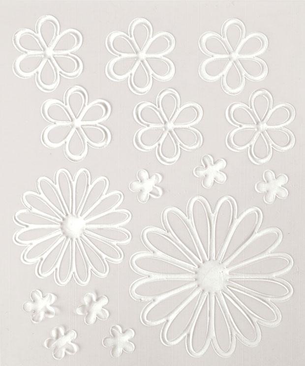 Blue Hills Studio ColorStories Embossed Cardstock Stickers: White