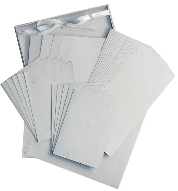 Blue Hills Studio Fine Writing Stationery: Gray, 15-Sheet Set