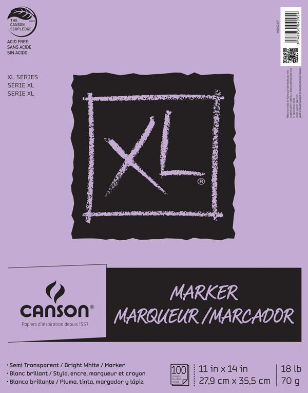 "Canson XL 11"" x 14"" Glue Bound Marker Pad 100-Sheet"