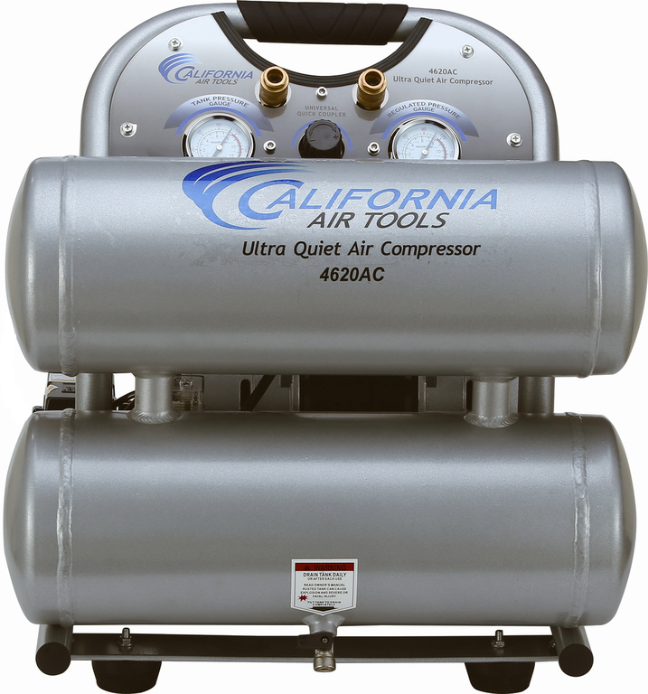 California Air Tools 4620AC Air Compressor: 2.0 HP, 4.6 Gal. Aluminum Tank, Ultra Quiet, Oil-Free